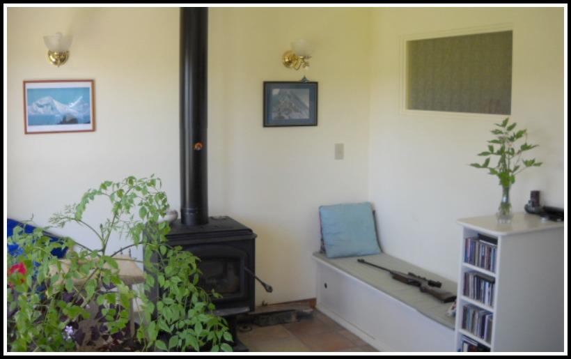 Bertoia interior remodel wood stove