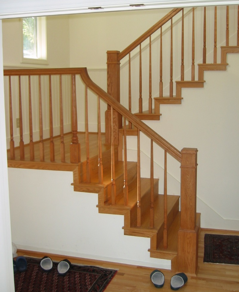 Second story addition New stairs