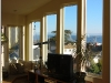 Custom windows looking out over Monterey Bay