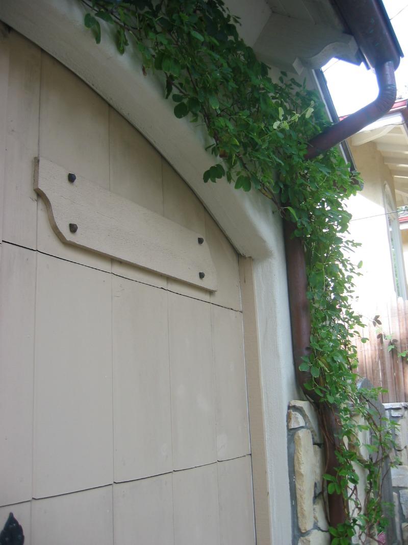 custom garage door detailing