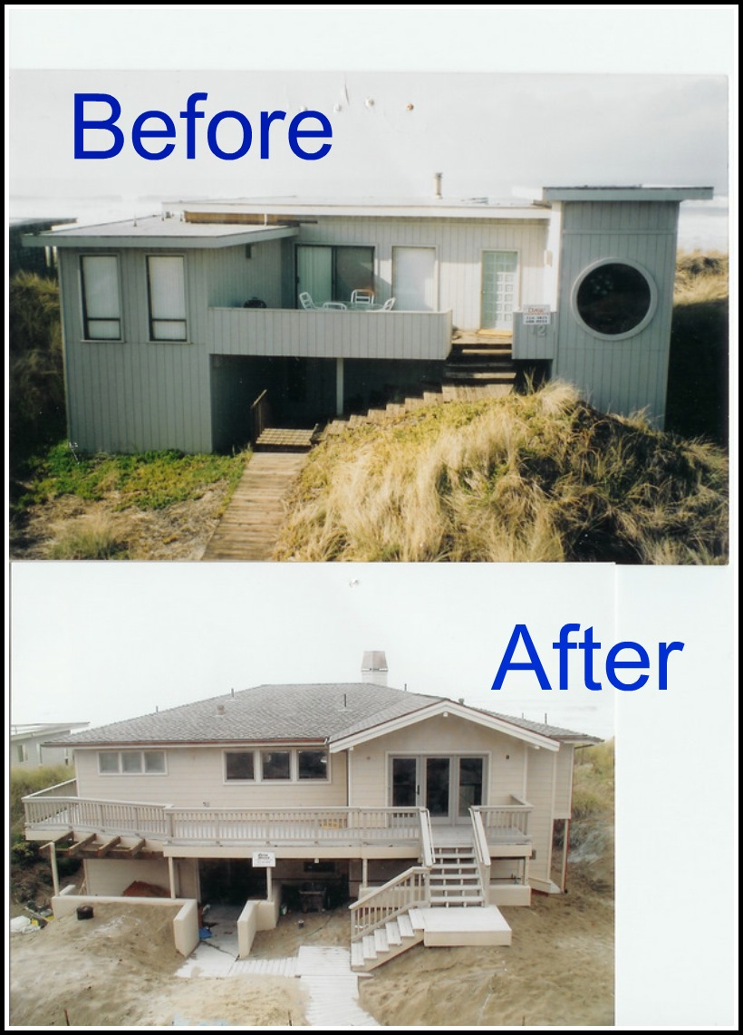 Beach House Renovation before and after pictures