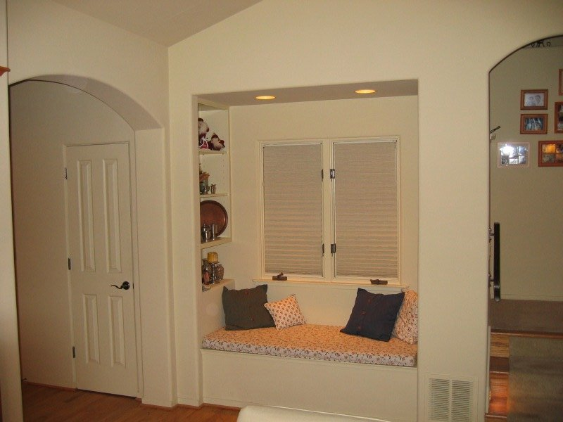 home remodel window alcove