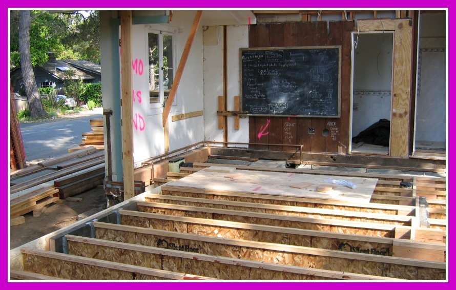 Remodel and addition floor frame
