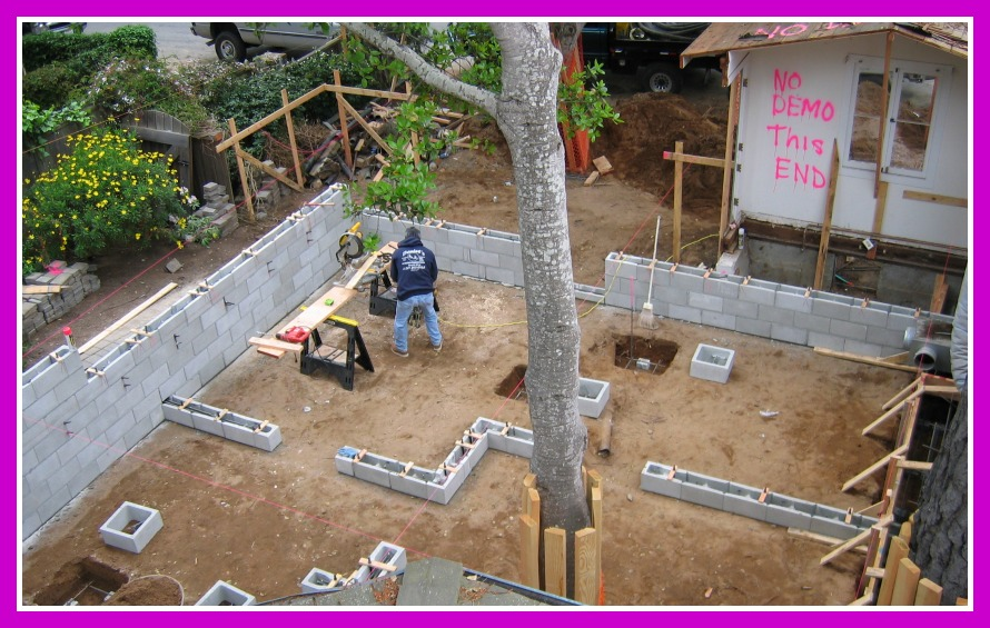 Remodel and Addition additional foundation prep