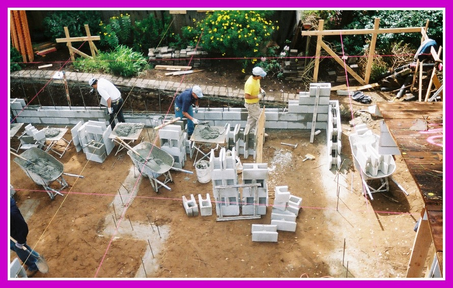 Remodel and addition foundation start