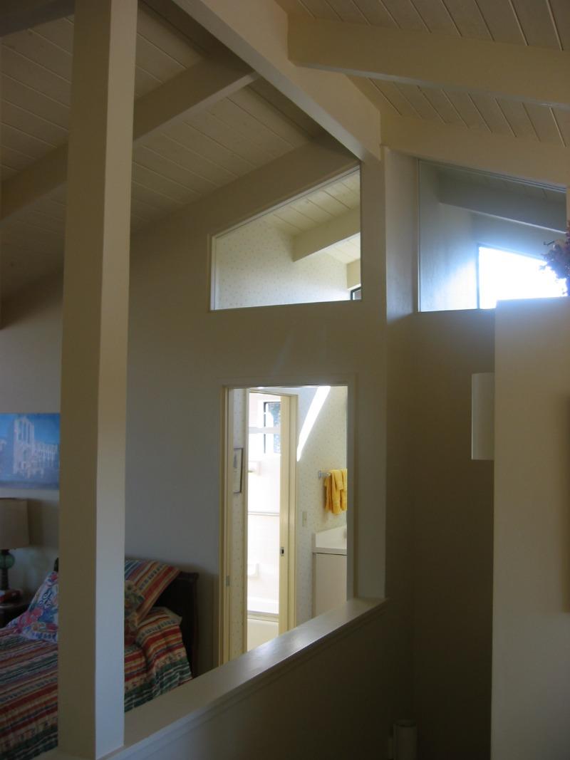 Interior windows add natural light