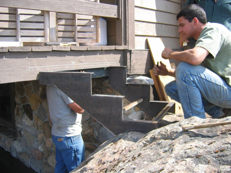 Metal stair fabrication in Bozeman, MT