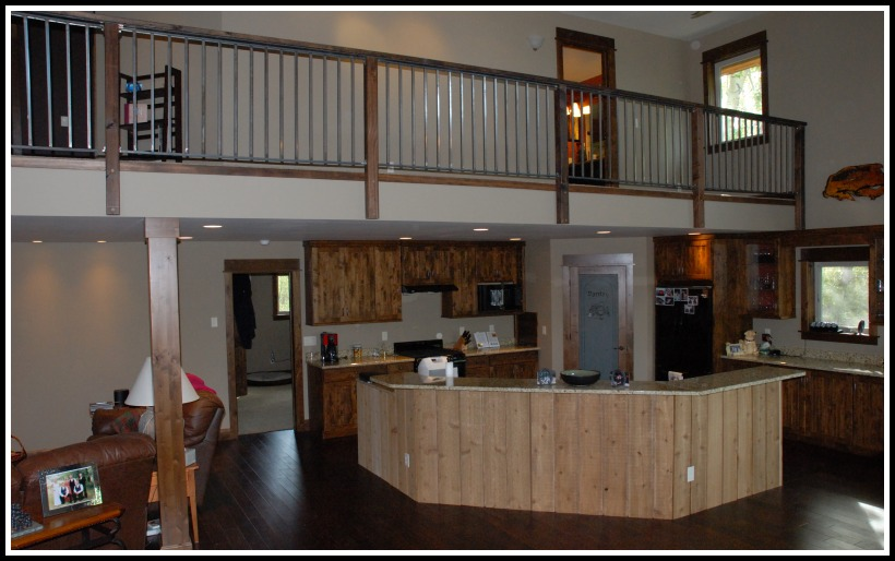 The loft over the kitchen area