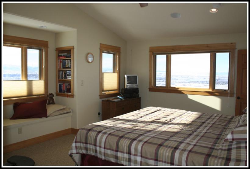Master bedroom window alcove