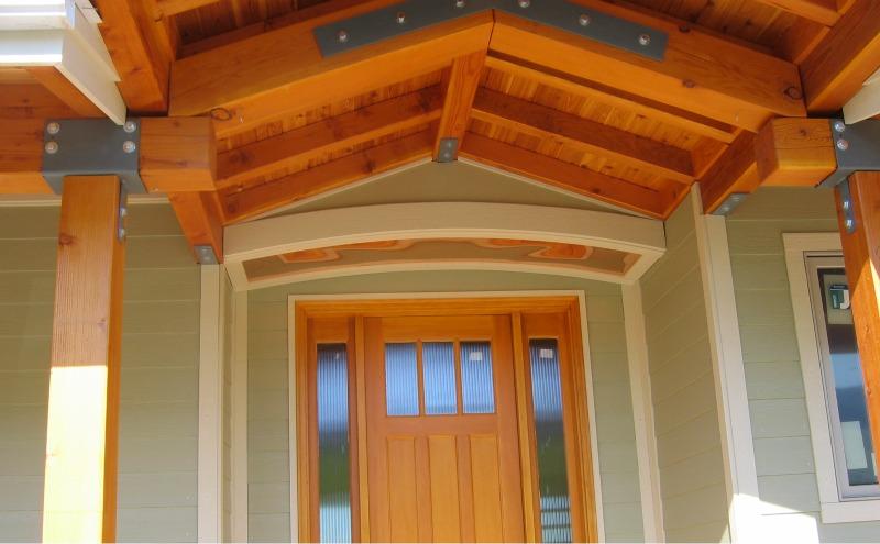 Custom exposed beam and copper detailing