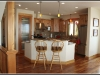 Granite counters, cherry floor, custom cabinets