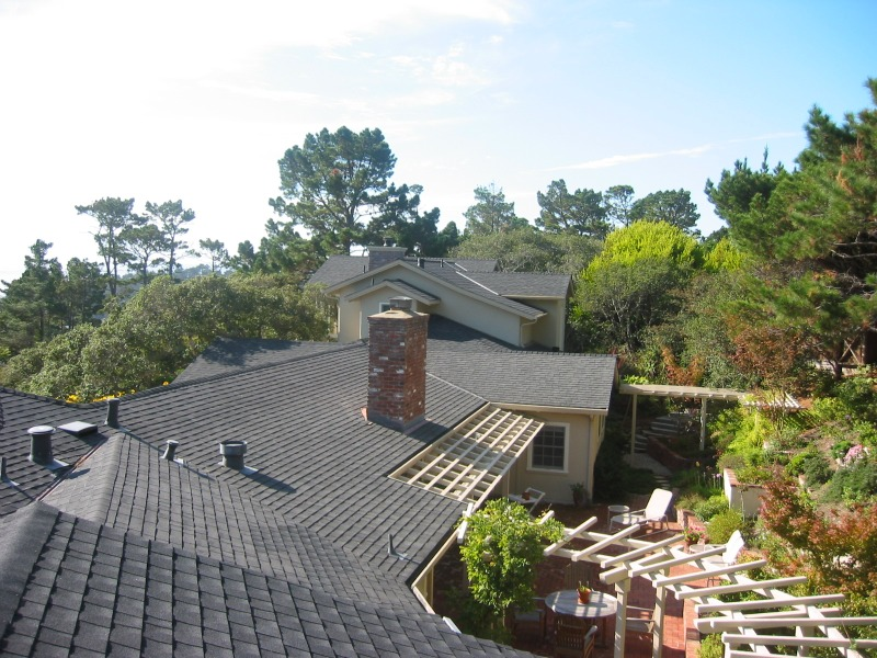 Roof view of addition