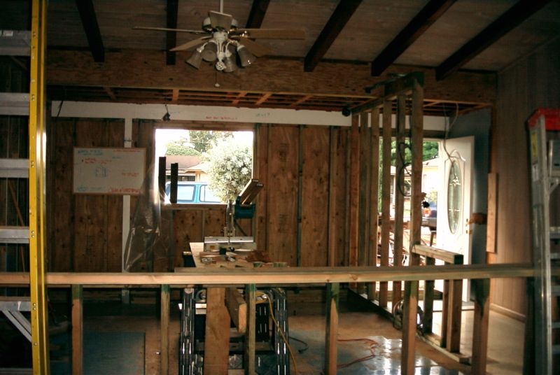 kitchen remodel bar framing