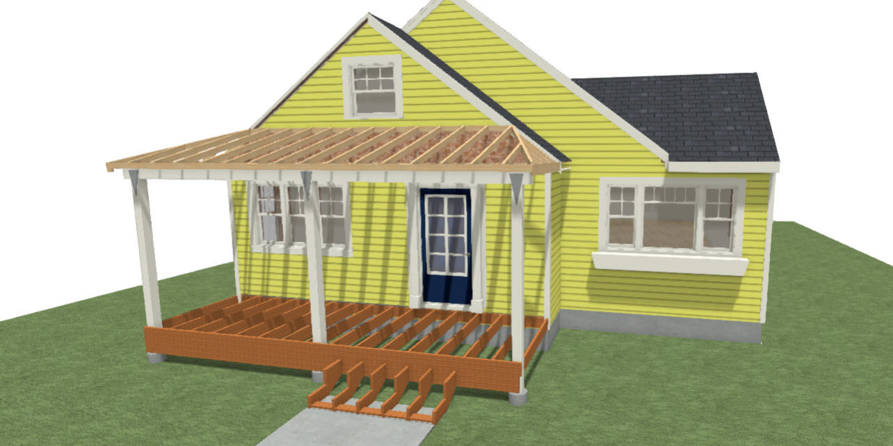 Brey project part 1 covered front porch addition in bozeman