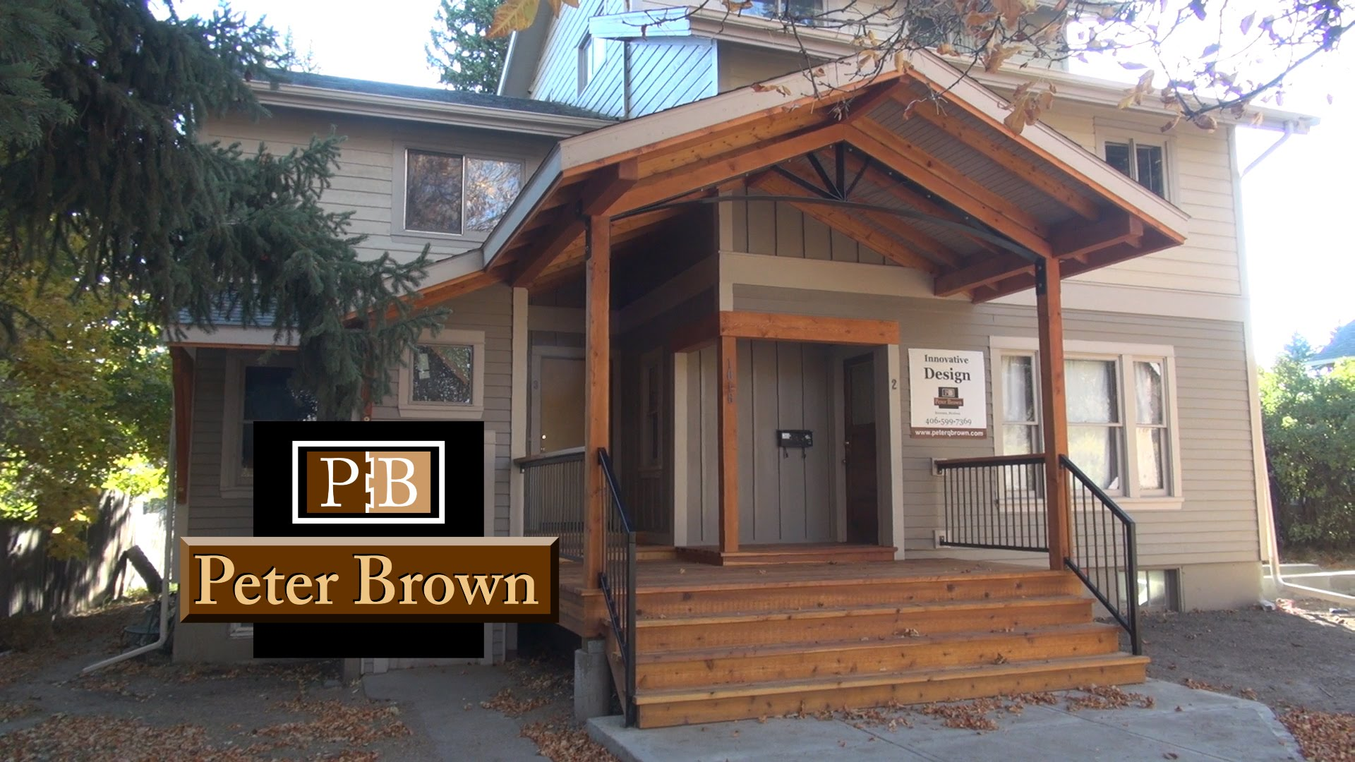 Covered front porch design in bozeman mt bozeman for Covered front porch