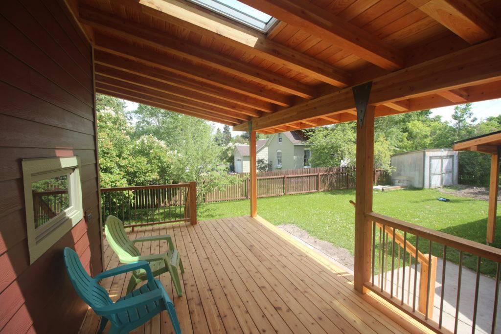 New Covered Backyard Patio in Bozeman, Montana - Bozeman